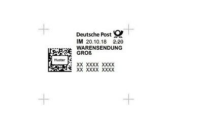 50 x 2,20€ Warensendung Deutsche Post Internetmarke wert 110 €