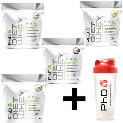 PhD Nutrition Diet Whey 1Kg + PHD Shaker Smart Weight Fat Loss Lean Management