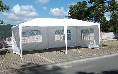 White Outdoor Gazebo Canopy Party Wedding Tent Removable Walls