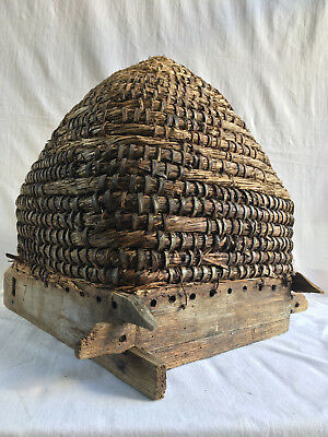 RARE 19th Century Original French Antique Bee Skep (beehive) Hand made