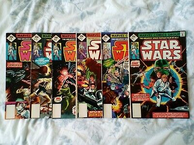 Star Wars (1977) 1,2,3,4,5,6, reprint. nice grades