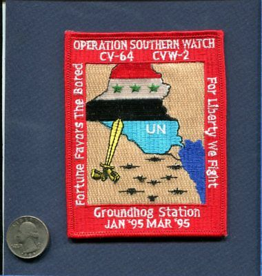 CV-64 USS CONSTELLATION CVW-2 WESTPAC 1995 US Navy Ship Squadron Cruise Patch