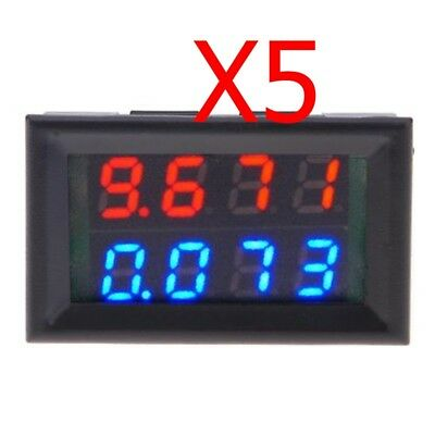5PCS Digital Voltmeter Ammeter DC 0-200V Led Dual Display Voltage Current Meter