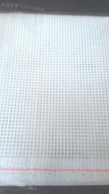 Piece of White Tapestry Double Canvas 10 holes to inch. 30 inches by 17 inches