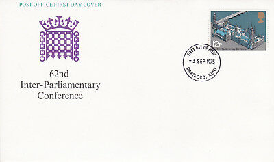 GB 1975 62nd Inter Parliamentary Conference FDC Dartford CDS Unadressed VGC