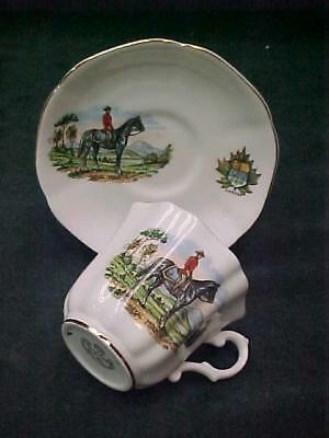 Royal Grafton Canadian Mountie Cup Saucier Canada Bone China England Gold Trim