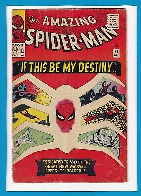 AMAZING SPIDER-MAN #31_DEC 1965_U/G_1st APP GWEN STACY/HARRY OSBORN_STEVE DITKO!