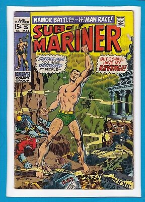 "Sub-Mariner #25_May 1970_Very Good+_""a World My Enemy""_Bronze Age Marvel!"