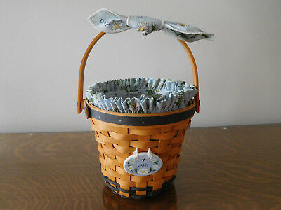 Longaberger USA 1999 May Series Daisy Basket Liner Protector Tie On