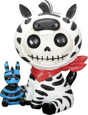 Furrybones Zeebie Skeleton in Zebra Costume Figurine Statuette Decoration New