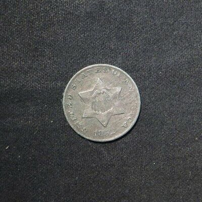 1852 Three Cent 3¢ Silver- VF/XF