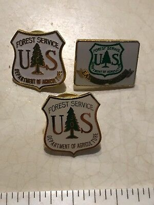 U.S. Forest Service Pins (3)