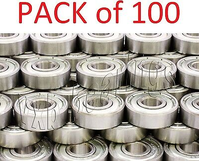 Wholesale Lot/Pack (100) 608ZZ 8x22 mm 608Z Metric Greased Ball Bearing Sale 608