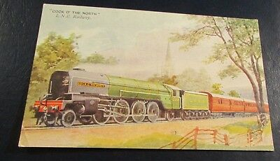 "Postcard.<Railroad-Steam>ENGLISH RAILWAY[L.N.E.]<ENGINE#2001-""COCK O' THE NORTH"""