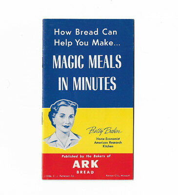 Ark Bread Recipe Booklet Advertising Cookbook 1956 American Research Kitchen