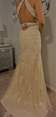 Lace Mermaid Wedding Dress Bridal Gown  Size 4