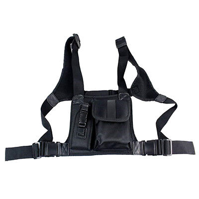 Radio Chest Harness Chest Front Pouch Holster Vest Rig for Walkie Talkie