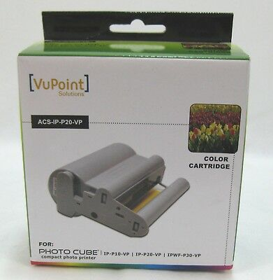 Vupoint Solutions Acs Ip P20 Vp Color Cartridge For Photo Cube