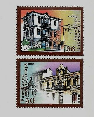 MACEDONIA Sc 248-9 NH issue of 2002 - Architecture