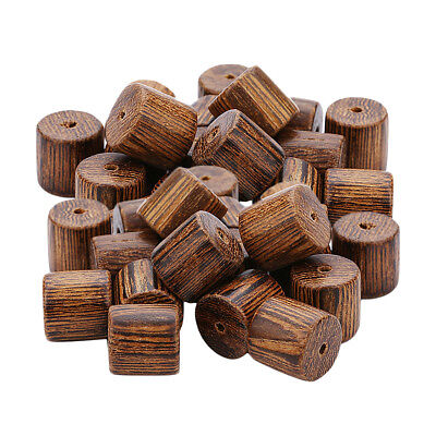 40x Pine Wood Beads Loose Spacer Macrame Curtains Chain DIY Ornament 10x10mm