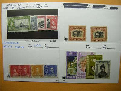 7173 Br. Commonwealth Lot of 4 Mint Stamp Packs