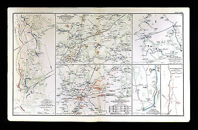 Civil War Map - Army of Potomac & Northern Virginia - Brandy Station - Mine Run