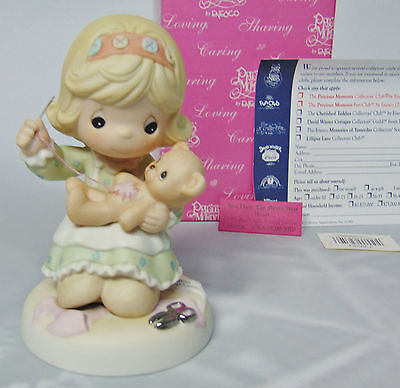 NEW Precious Moments YOU HAVE BEARY BEST HEART Girls Sewing Bear Limited Edition