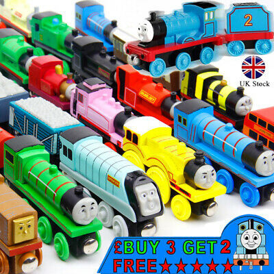 2018 The Tank Engine Tender Wooden Magnetic Railway Train Toys Car Kids Gifts U
