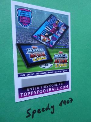Topps Champions League 18 2019 Code limited Edition Messi 19 Match Attax 2018
