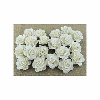 5 x Mulberry Paper Flowers TRELLIS ROSES 40mm Paper Craft Flower Embellishments