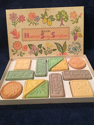 Collectible AVON Hostess Soap Sampler Gift Set 12 Soaps Made in USA Vintage