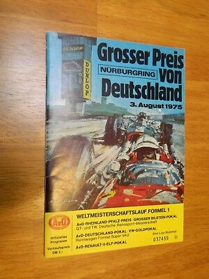 Automobilia/1975 German Grand Prix Original Event Program/nurburgring/ferrari