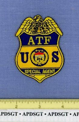 """ATF SPECIAL AGENT WASHINGTON DC Federal Police Patch ALCOHOL TOBACCO 3.25"""""""
