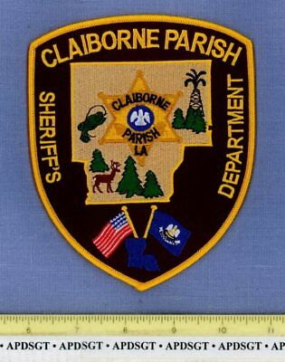CLAIBORNE PARISH SHERIFF LOUISIANA County Police Patch OIL WELL DEER FISH