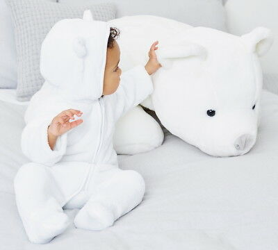 18-24 Months - New/tags The Little White Company White Polar Fleece Romper Suit