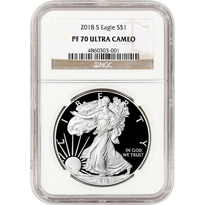 2018-S American Silver Eagle Proof - NGC PF70 UCAM