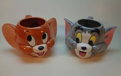 Rare Vintage Tom & Jerry Ceramic Mugs - Applause Inc. @ Turner Entertainment Co.