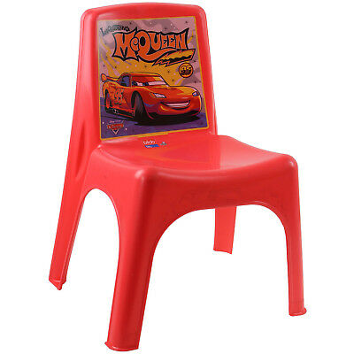 Disney Cars Plastic Chair Toddler Children's Playroom Bedroom Outdoor Furniture