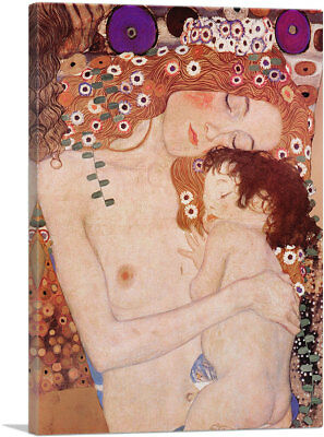Mother and Child The Three Ages of Woman Gustav Klimt Art Print Poster 11x14