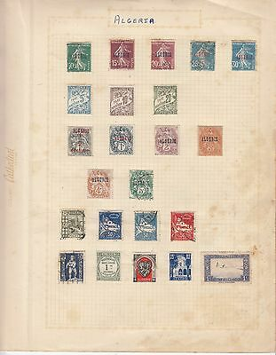 ALGERIA on Album Page mostly Early Issues MINT/USED