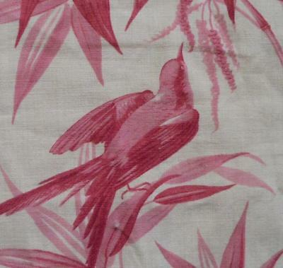 NEW AUTUMN STOCK,  EARLY TO MID 19th CENTURY FRENCH TOILE DE JOUY BIRDS 307.