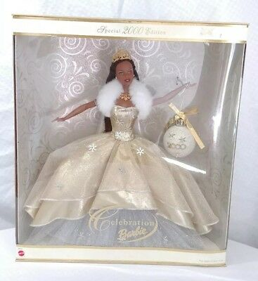 Celebration Barbie Special 2000 Edition Holiday Barbie w/Christmas Ornament AA