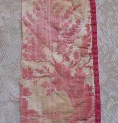 AUTUMN CLEAROUT, FADED FRAGMENT 18th CENTURY FRENCH TOILE DE JOUY c1790   3.