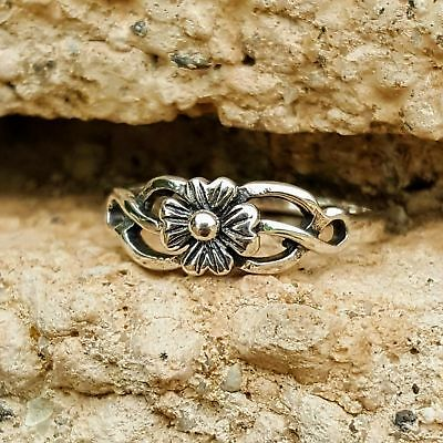 .925 Sterling Silver Ring Ladies Celtic Flower Midi Knuckle Size 4-10 Thumb New