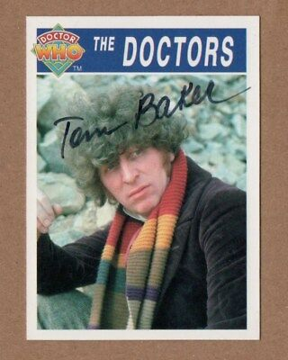 Dr Who Signed Cornerstone Card 285 By Tom Baker