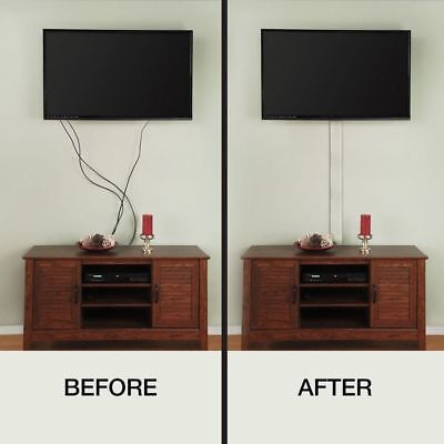 FLAT SCREEN WALL MOUNT TV CORD COVER Cable Hider Wire Hiding Organizer LED LCD