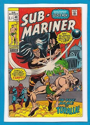 Sub-Mariner #40_August 1971_Very Good_Spider-Man_Turalla The Mad_Bronze Age Uk!