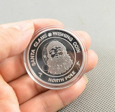 1pcs Fine Silver Plated Merry Christmas Commemorative Collectible Coin Gift NB11