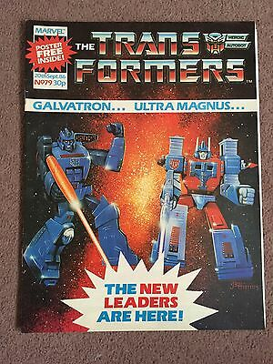 Transformers Comic Marvel Uk #79 With Giant Poster Free Gift