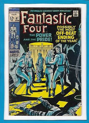 """Fantastic Four #87_June 1969_Vg+_Doctor Doom_""""power & The Pride""""_Silver Age!"""